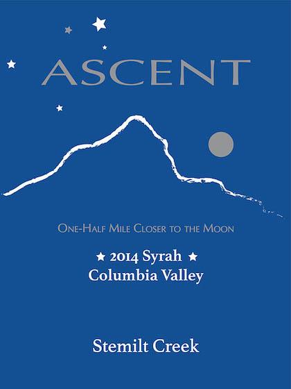 Stemilt Creek 2014 Ascent Syrah label