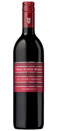 three rivers winery rivers red wine 2015 bottle - Three Rivers Winery 2015 River's Red Wine, Columbia Valley, $14