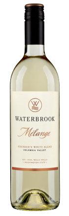 waterbrook winery melange white blend nv bottle e1520202041796 - Waterbrook Winery 2016 Mélange Founder's White Blend Melanage, Columbia Valley, $12