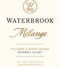 waterbrook winery melange white blend nv label 120x134 - Waterbrook Winery 2016 Mélange Founder's White Blend Melanage, Columbia Valley, $12