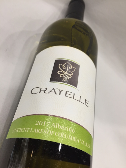Crayelle albarino - Crayelle Cellars 2017 Albariño, Ancient Lakes of Columbia Valley, $24