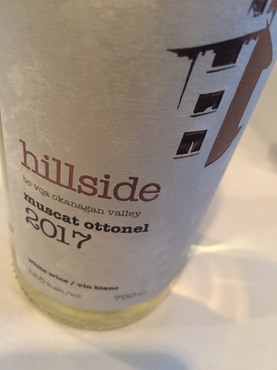 Hillside Muscat - Hillside Winery 2017 Muscat Ottonel, Okanagan Valley, $22