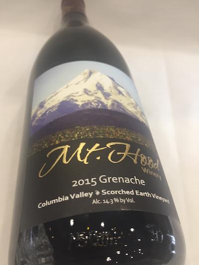 Mt. Hood Grenache - Mt. Hood Winery 2015 Scorched Earth Vineyard Grenache, Columbia Valley, $28