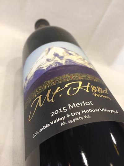 Mt. Hood Merlot - Mt. Hood Winery 2015 Dry Hollow Vineyard Merlot, Columbia Valley, $34
