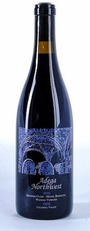 adega northwest weinbau vineyard gsm 2015 bottle - Adega Northwest 2015 Weinbau Vineyard Growers Cuvée Miguel Rodriguez GSM, Columbia Valley, $30