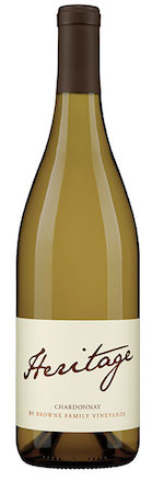 browne family vineyards heritage chardonnay nv bottle  - Heritage by Browne Family Vineyards 2016 Chardonnay, Columbia Valley, $17