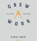 crew work pinot noir 2014 label 120x134 - Crew Work Wines 2014 Pinot Noir, Elkton Oregon, $28