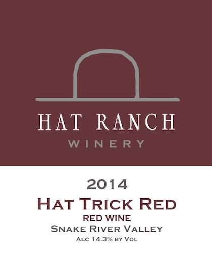 hat ranch winery hat trick red 2014 label - Hat Ranch Winery 2014 Hat Trick Red, Snake River Valley, $27