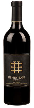 henry earl estates quintessence vineyard malbec 2015 bottle - Henry Earl Estates 2015 Quintessence Vineyard Malbec, Red Mountain, $45
