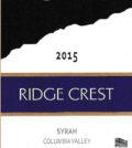 ridge crest white bluffs vineyard syrah 2015 label 120x134 - Ridge Crest 2015 White Bluffs Vineyard Syrah, Columbia Valley, $14