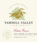 yamhill valley vineyards rose pinot noir 2017 label 120x134 - Yamhill Valley Vineyards 2017 Estate Rosé of Pinot Noir, McMinnville, $16