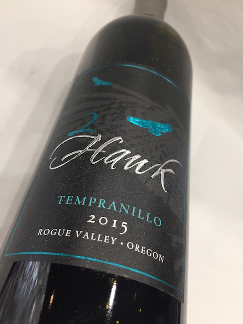 2Hawk Tempranillo - 2Hawk Vineyard & Winery 2015 Tempranillo, Rogue Valley, $31