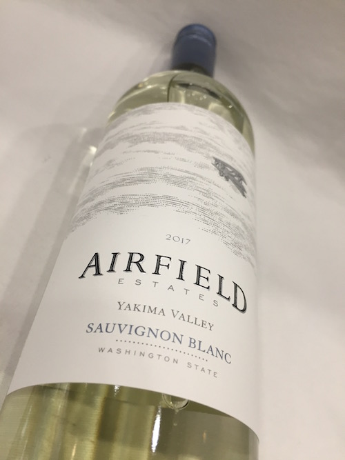 Airfield SB - Airfield Estates Winery 2017 Sauvignon Blanc, Yakima Valley, $15