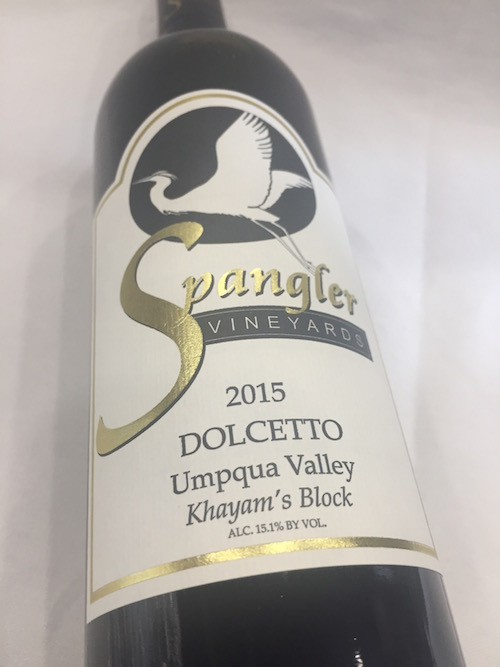 Spangler Dolcetto - Spangler Vineyards 2015 Khayam's Block Dolcetto, Umpqua Valley, $29