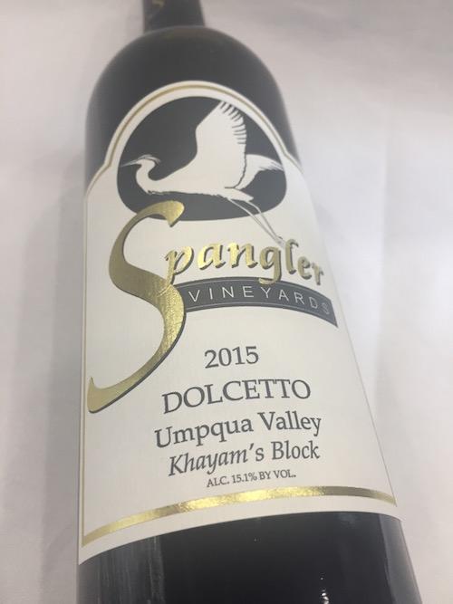 Spangler Vineyards 2015 Dolcetto, Umpqua Valley, $29