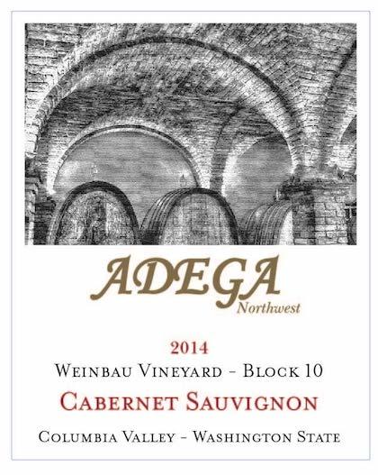 Adega Northwest 2014 Weinbau Vineyard Cabernet Sauvignon label
