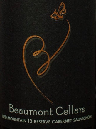 beaumont cellars reserve cabernet sauvignon 2015 label - Beaumont Cellars 2015 Reserve Cabernet Sauvignon, Red Mountain, $39