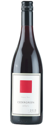 cedergreen cellars gamay noir 2015 bottle - Cedergreen Cellars 2015 Gamay Noir, Columbia Valley, $25