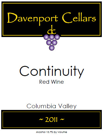 davenport-cellars-continuity-red-wine-2011-label