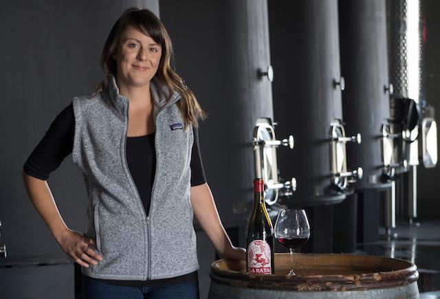 Elizabeth Bourcier inside Cayuse wine studio, Cayuse, Milton Freewater, Oregon