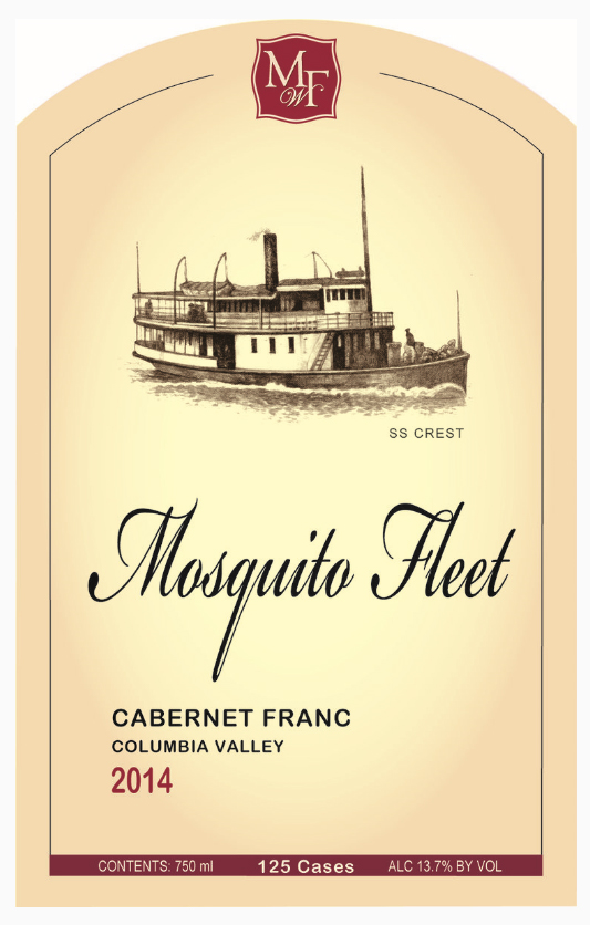 mosquito fleet winery cabernet franc 2014 label 1 - Mosquito Fleet Winery 2014 Cabernet Franc, Columbia Valley, $32