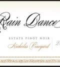 rain dance vineyards nicholas vineyard estate pinot noir 2015 label 120x134 - Rain Dance Vineyards 2015 Nicholas Vineyard Estate Pinot Noir, Chehalem Mountains, $30