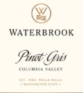 waterbrook winery pinot gris nv label 120x134 - Waterbrook Winery 2017 Pinot Gris, Columbia Valley, $15