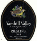 yamhill valley vineyards riesling 2015 label 1 120x134 - Yamhill Valley Vineyards 2015 Riesling, Willamette Valley, $18