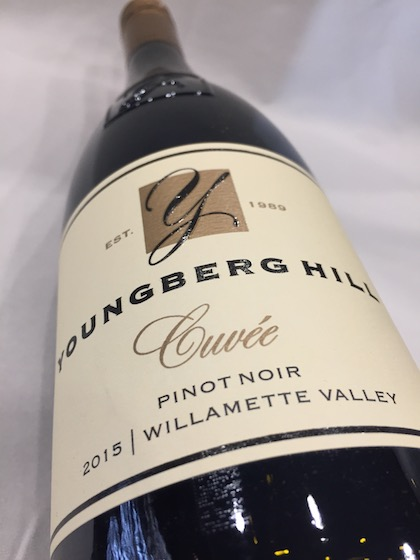 youngberg hill cuvee pinot noir 2015 bottle - Youngberg Hill 2015 Cuvée Pinot Noir, Willamette Valley, $35