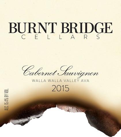 Burnt Bridge Cellars 2015 Cabernet Sauvignon label