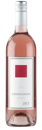 cedergreen cellars voila rose 2017 bottle - Cedergreen Cellars 2017 Viola Rosé, Columbia Valley, $16
