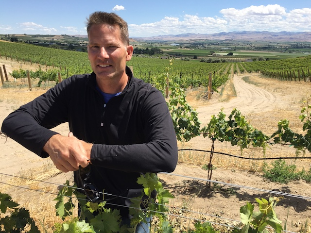 greg koenig j victor vineyard 6 11 18 - Fujishin, Lost West Winery use Riesling to top 2018 Idaho Wine Competition