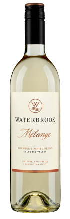 waterbrook winery melange founders white blend nv bottle - Waterbrook Winery 2017 Melange Founder's White Blend, Columbia Valley, $15
