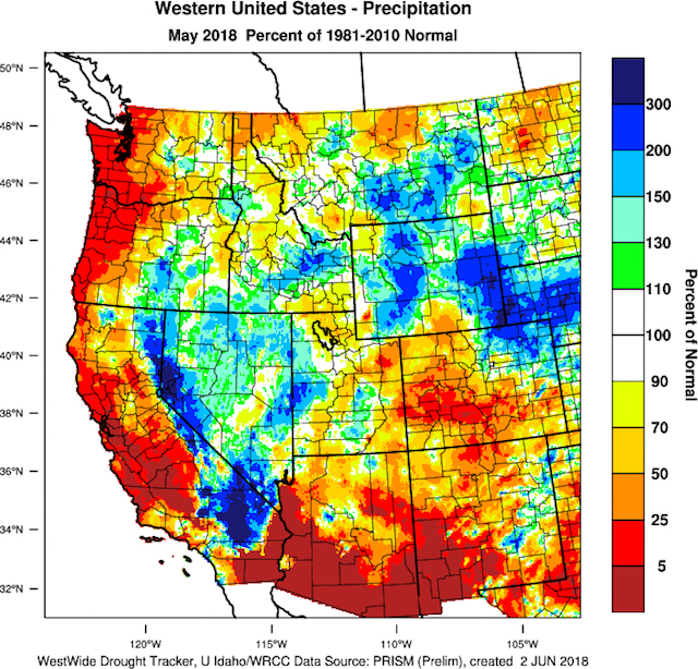 western us precipitation may 2018 1 - 2018 vintage for Northwest wine growers tracks ahead of hot 2015