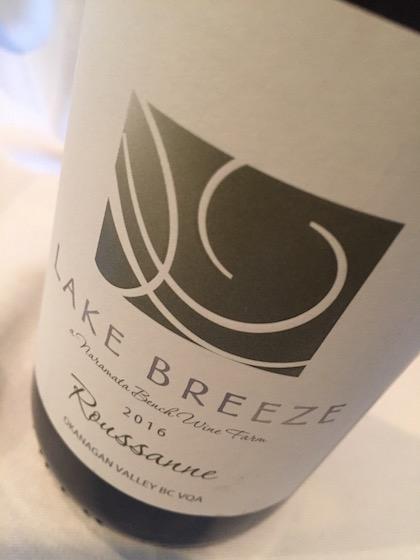 Lake Breeze Roussanne - Lake Breeze Vineyards 2016 Roussanne, Okanagan Valley, $24