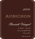 aubichon riverside vineyard pinot noir 2016 label 120x134 - Aubichon Cellars 2016 Riverside Vineyard Pinot Noir, Willamette Valley, $55