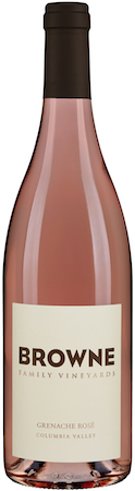browne family vineyard grenache rose nv bottle - Browne Family Vineyards 2017 Grenache Rosé, Columbia Valley, $20