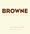 browne family vineyard grenache rose nv label 120x134 - Browne Family Vineyards 2019 Grenache Rosé, Columbia Valley, $20