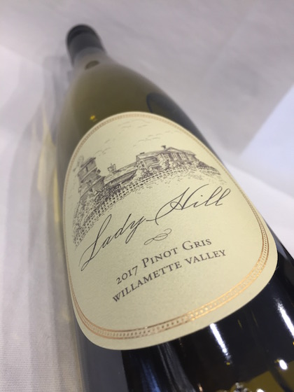 lady Hill Pinot Gris - Lady Hill Winery 2017 Pinot Gris, Willamette Valley, $18