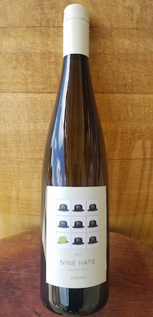 nine hats wines riesling 2017 bottle - Nine Hats Wines 2017 Riesling, Columbia Valley, $14