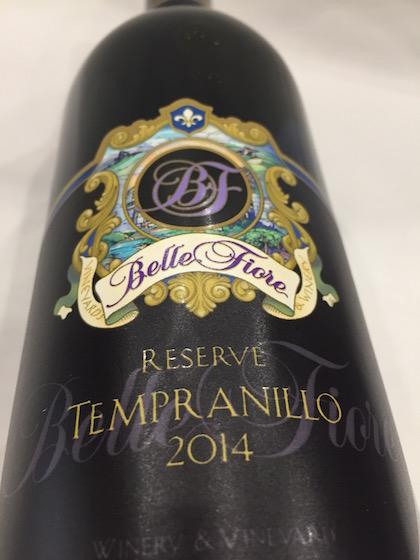 Belle Fiore Reserve Tempranillo - Belle Fiore Winery 2014 Reserve Tempranillo, Rogue Valley, $41