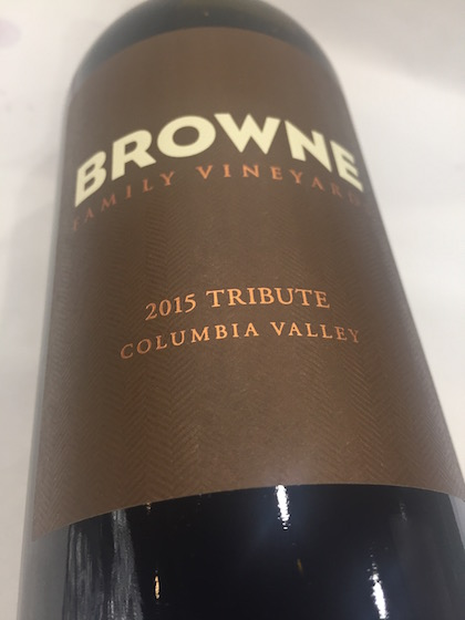 Brown Tribute - Browne Family Vineyard 2015 Tribute Red, Columbia Valley, $30
