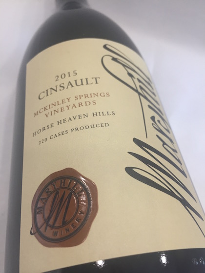 Maryhill Cinsault - Maryhill Winery 2015 McKinley Springs Vineyard Cinsault, Horse Heaven Hills, $40