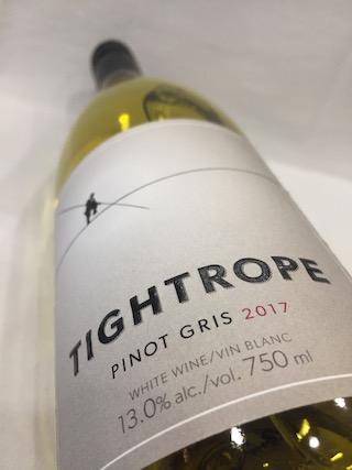 Tightrope Pinot Gris - Tightrope Winery 2017 Pinot Gris, Okanagan Valley, $21