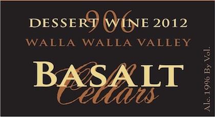 basalt cellars dessert wine 2012 label - Basalt Cellars 2012 Red Dessert Wine, Walla Walla Valley, $24