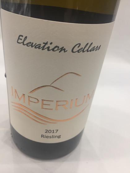 elevation cellars imperium riesling 2017 bottle - Elevation Cellars 2017 Imperium Riesling, Columbia Valley, $18