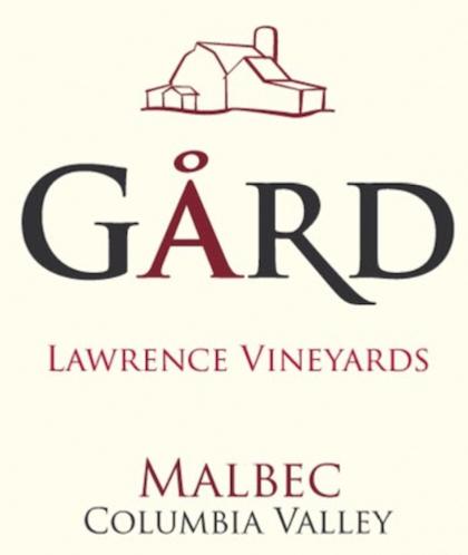 gard vintners lawrence vineyards malbec nv label - Gård Vintners 2014 Lawrence Vineyards Malbec, Columbia Valley, $35