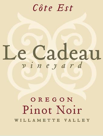 le cadeau vineyard cote est pinot noir nv label - Le Cadeau Vineyard 2015 Côte Est Pinot Noir, Willamette Valley, $50