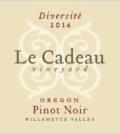 le cadeau vineyard diversite pinot noir 2016 label 120x134 - Le Cadeau Vineyard 2016 Diversité Pinot Noir, Willamette Valley, $50