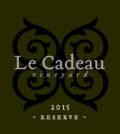 le cadeau vineyard reserve pinot noir 2015 generic label 120x134 - Le Cadeau Vineyard 2015 Trajet Reserve Pinot Noir, Chehalem Mountains, $80